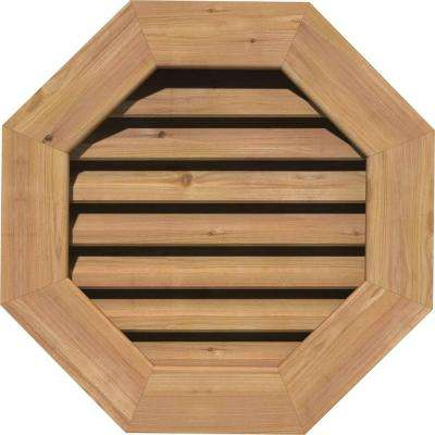 23 in. x 23 in. Smooth Cedar Functional Gable Vent w/ Brick Mould Face Frame Unfinished (18 in. x 18 in. Rough Opening)