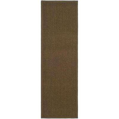 Natural Fiber Brown 3 ft. x 16 ft. Runner Rug