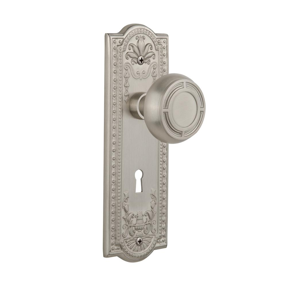 Gentil Nostalgic Warehouse Meadows Plate Interior Mortise Mission Door Knob In  Satin Nickel