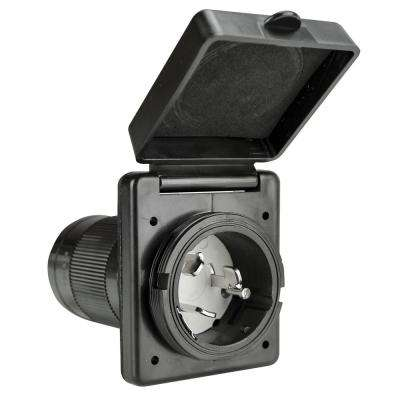 50 Amp Power Inlet in Black