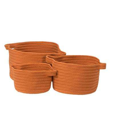 Santorini Orange Polypropylene Storage (Set of 3)