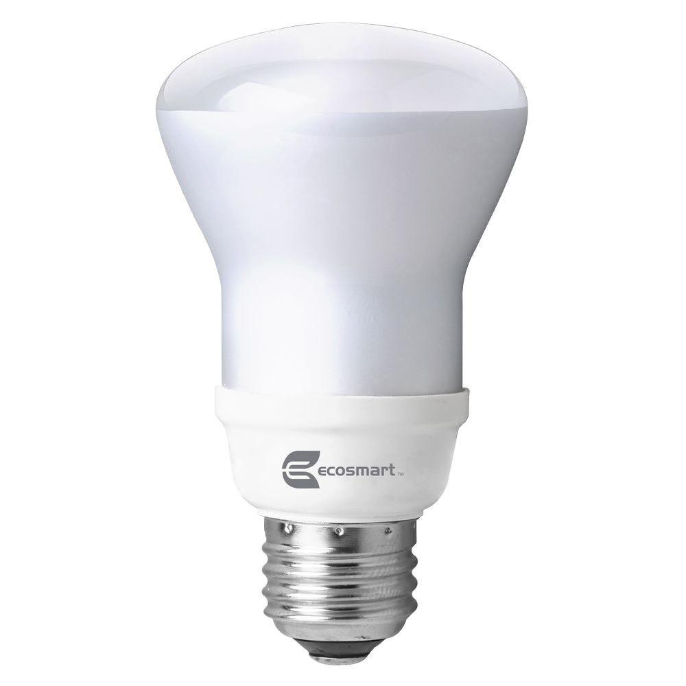 Ecosmart 50 Watt Equivalent R20 Cfl Light Bulb Soft White