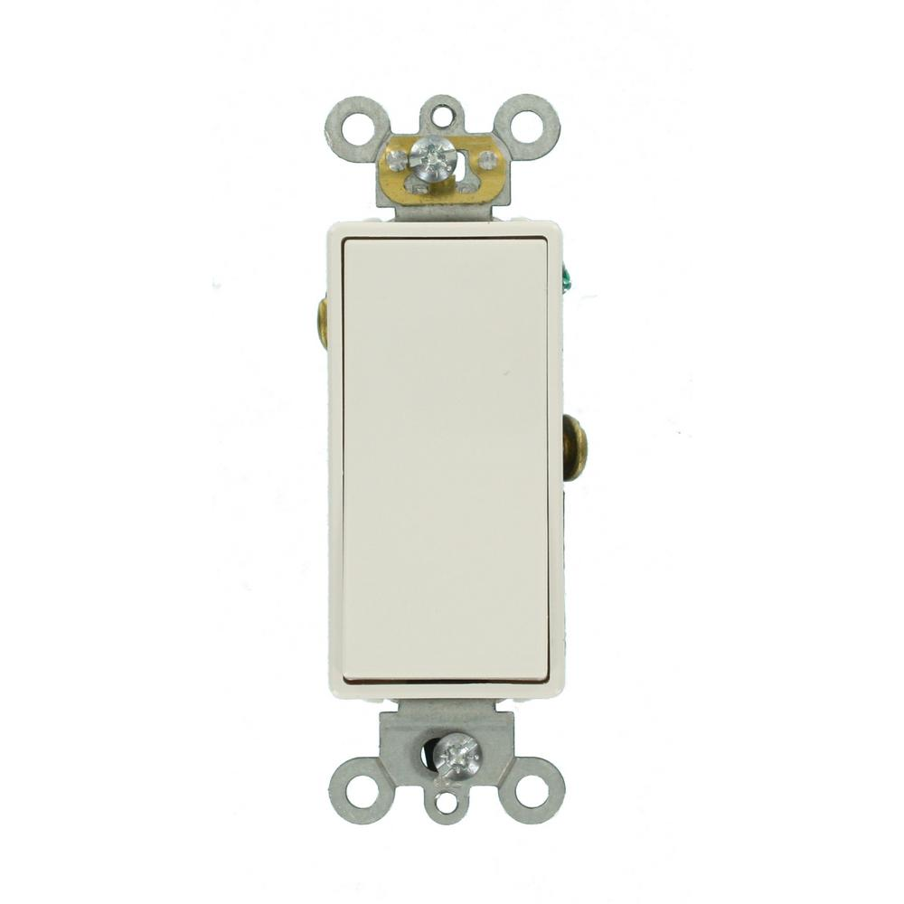 Leviton Decora Plus 20 Amp Switch White R52 05621 2ws The Home Depot Toggle Wiring Diagram As Well Push Button