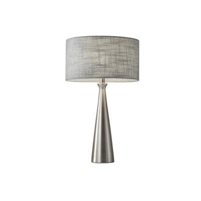 Linda 21.5 in. Silver and Gray Table Lamp