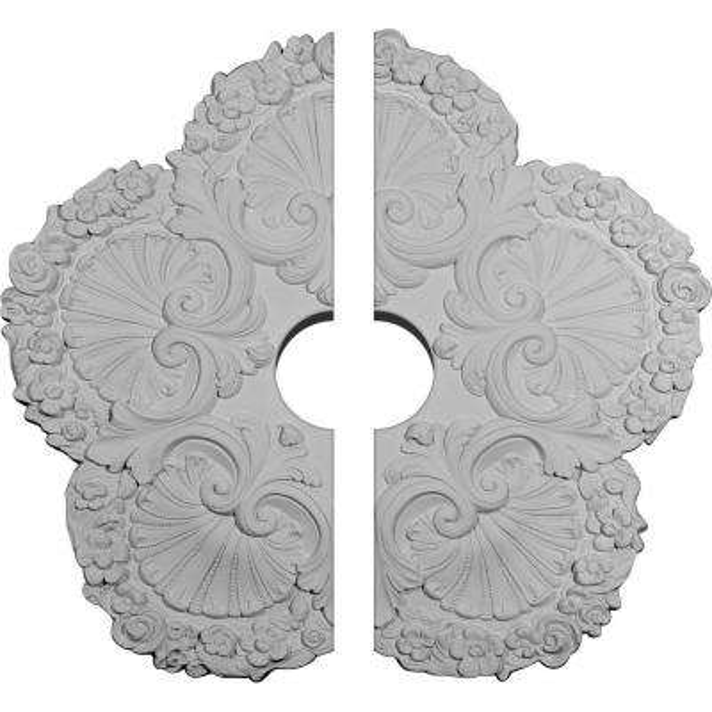 25-5/8 in. O.D. x 4-1/2 in. I.D. x 1 in. P Shell Ceiling Medallion (2-Piece)
