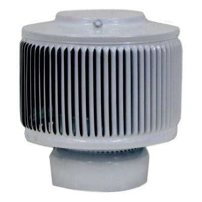 4 in. Dia Aura PVC Vent Cap Exhaust with Adapter for Schedule 40 or Schedule 80 PVC Pipe in White