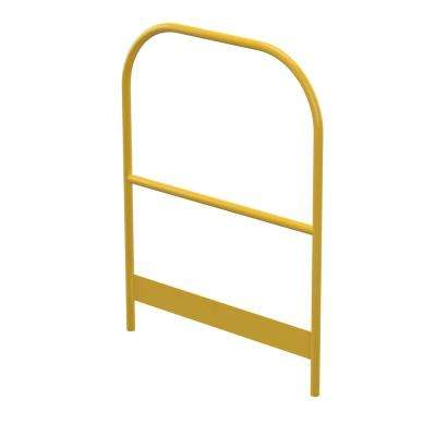 42 in. x 36 in. x 2 in. Yellow Powder Coat Steel Modular Work Platform Handrail