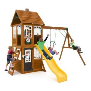 Kidkraft creston lodge wooden playset f24953 the home depot mckinley wooden playset publicscrutiny Image collections