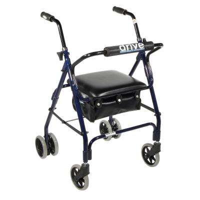 Mimi Lite Push Brake 4-Wheel Rollator Walker