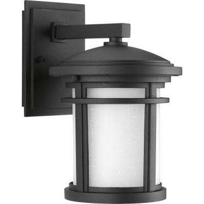 Wish Collection 1-Light Textured Black LED Wall Lantern