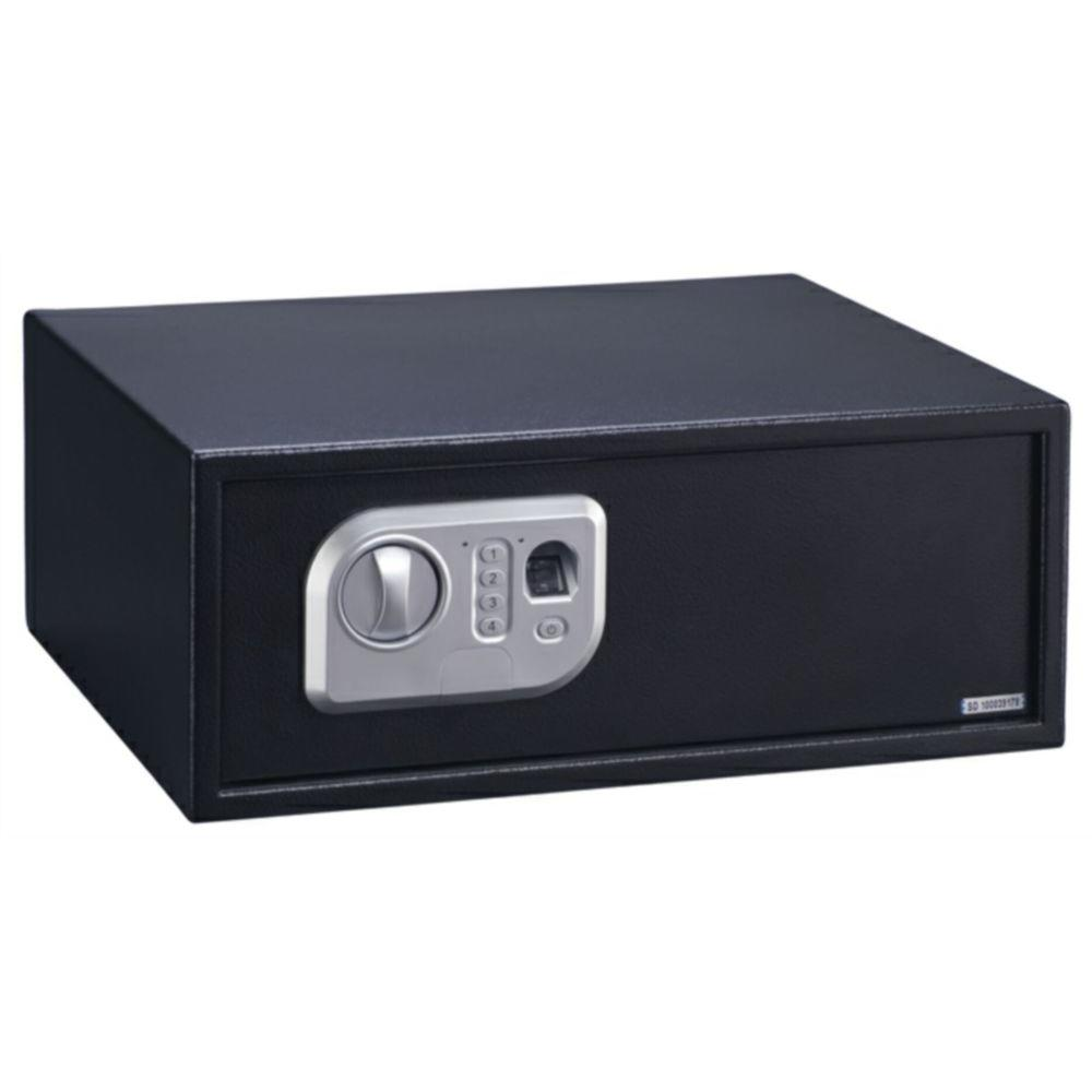 Stack-On Biometric Extra Wide Personal Safe with Biometric Lock in Black