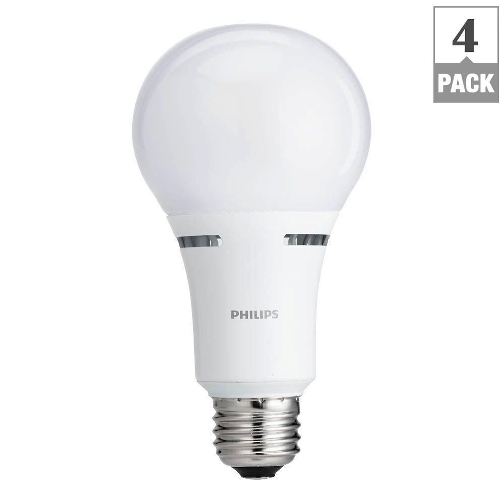 40W/60W/100W Equivalent Soft White A21 LED 3-Way Light Bulb (4-Pack)