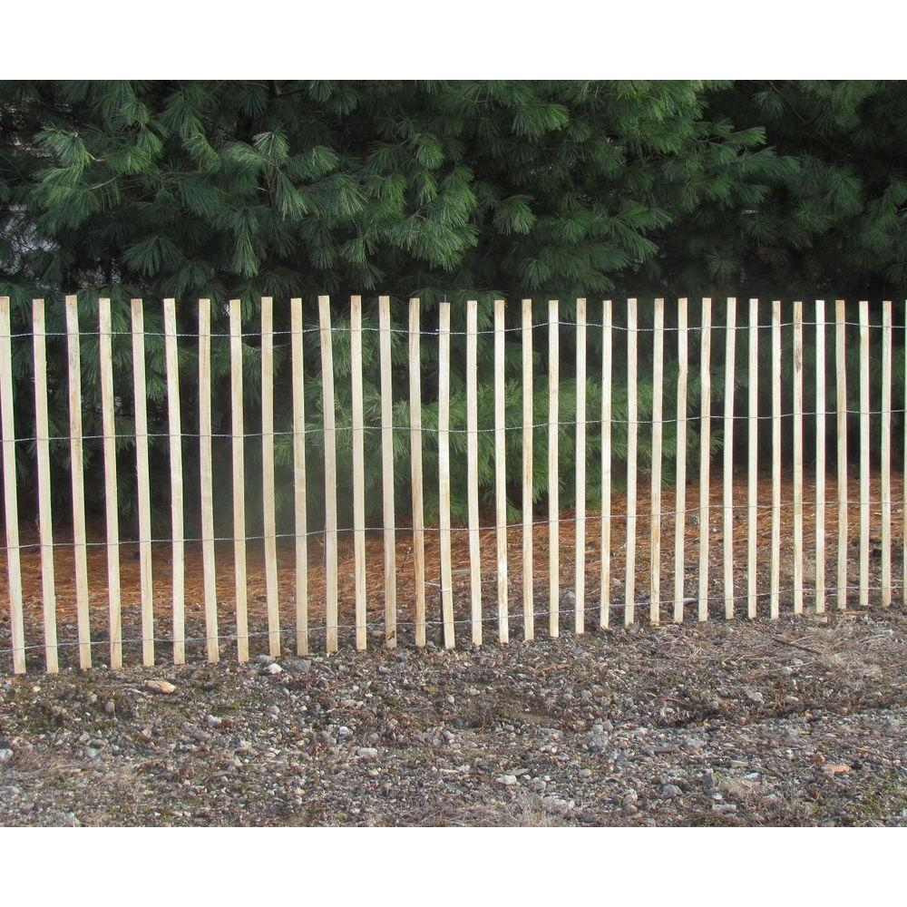 4 Ft X 50 Natural Wood Snow Fence