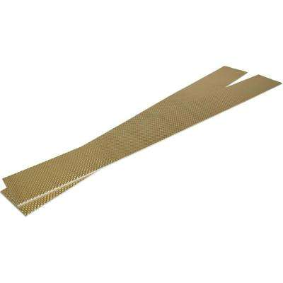 MantleFlect Shield Gold - Mantle and TV Heat Shield – 5 in. x 46 in.(X2) Sheet Size
