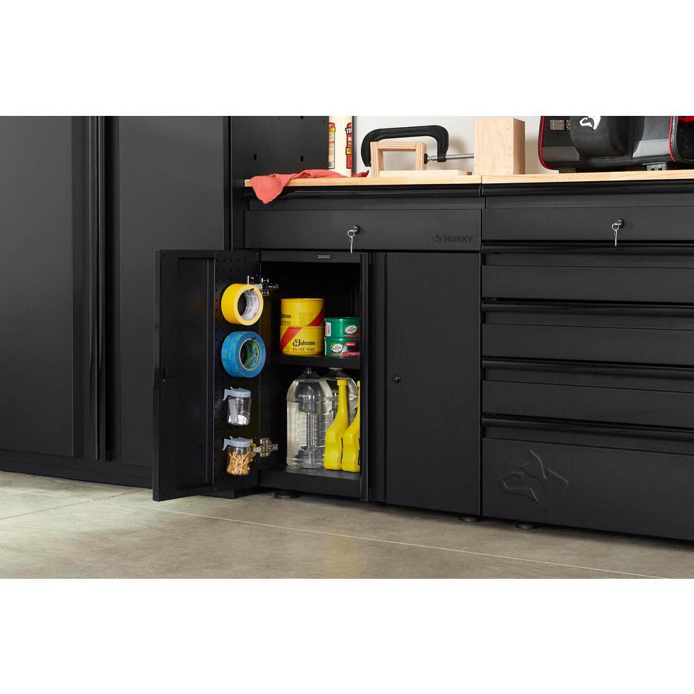 Heavy Duty Welded 28 in. W x33 in. H x 21.5 in. D20-Gauge Free Standing 1-Drawer 2-Door Steel Garage Base Cabinet
