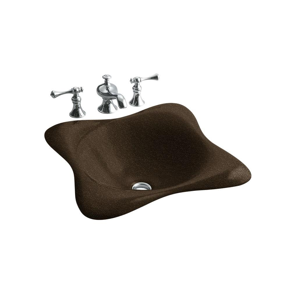Kohler Dolce Vita Drop-In Cast Iron Bathroom Sink in Blac...