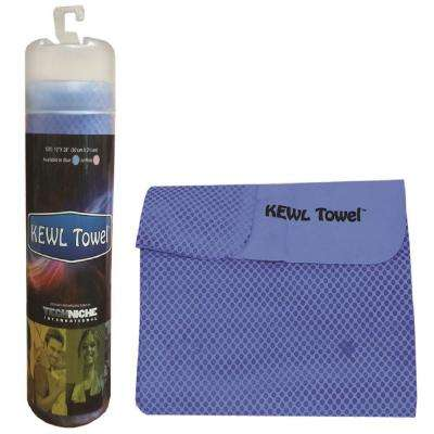 12 in. x 28 in. Evaporative Cooling Towel, Blue