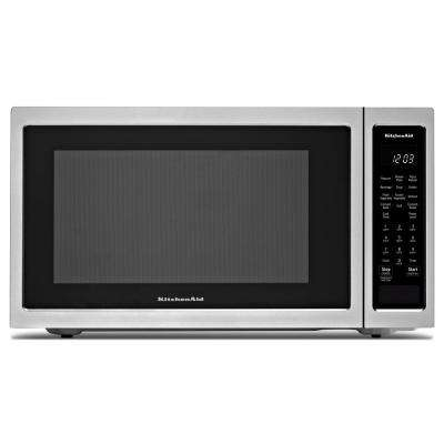 1.5 cu. ft. Countertop Microwave in Stainless Steel with PrintShield