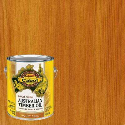 1 gal. Honey Teak Australian Timber Oil Exterior Wood Finish, VOC Compliant