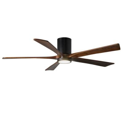Irene 60 in. LED Indoor/Outdoor Damp Matte Black Ceiling Fan with Light with Remote Control and Wall Control