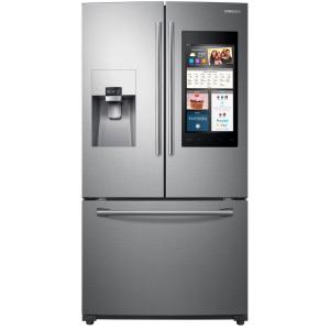 Click here to buy Samsung 24.6 cu. ft. Family Hub French Door Smart Refrigerator in Stainless Steel by Samsung.