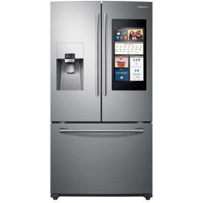 24.2 cu. ft. Family Hub French Door Refrigerator in Stainless Steel