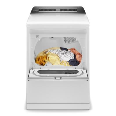 7.4 cu. ft. 240-Volt Smart White Electric Dryer with AccuDry System and Steam Refresh, ENERGY STAR