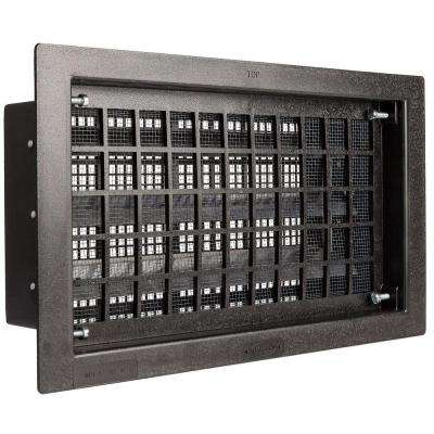 16 in. x 8 in. Automatic Open/Close Foundation Vent in Black