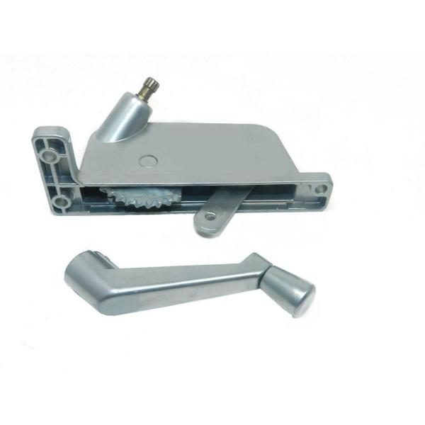 Security 2-5/16 in. Silver Aluminium Left-Hand Awning Window Operator