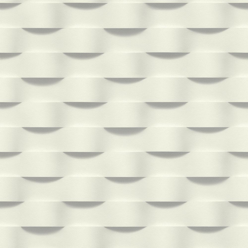 8 in. x 10 in. Clarice Grey Geometric Ripple Wallpaper Sample