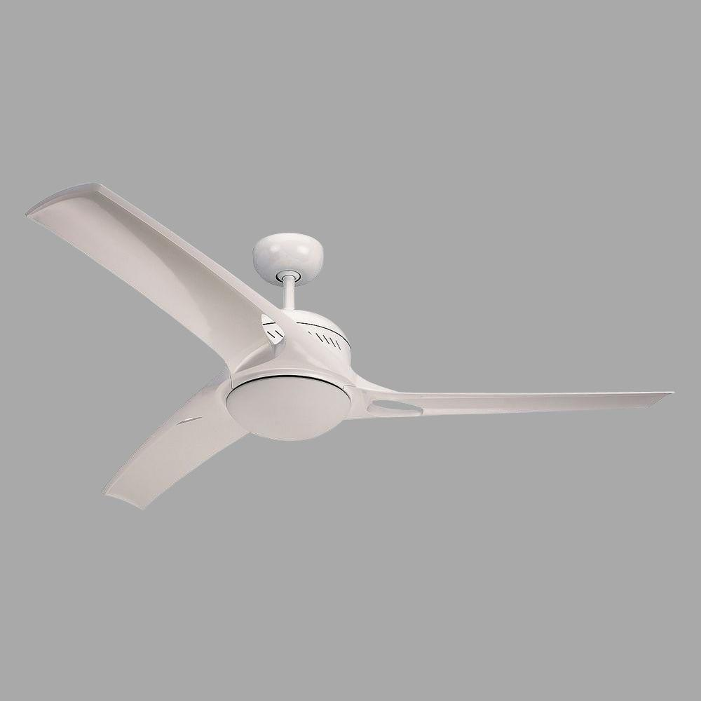 White Ceiling Fan With 3 Blades
