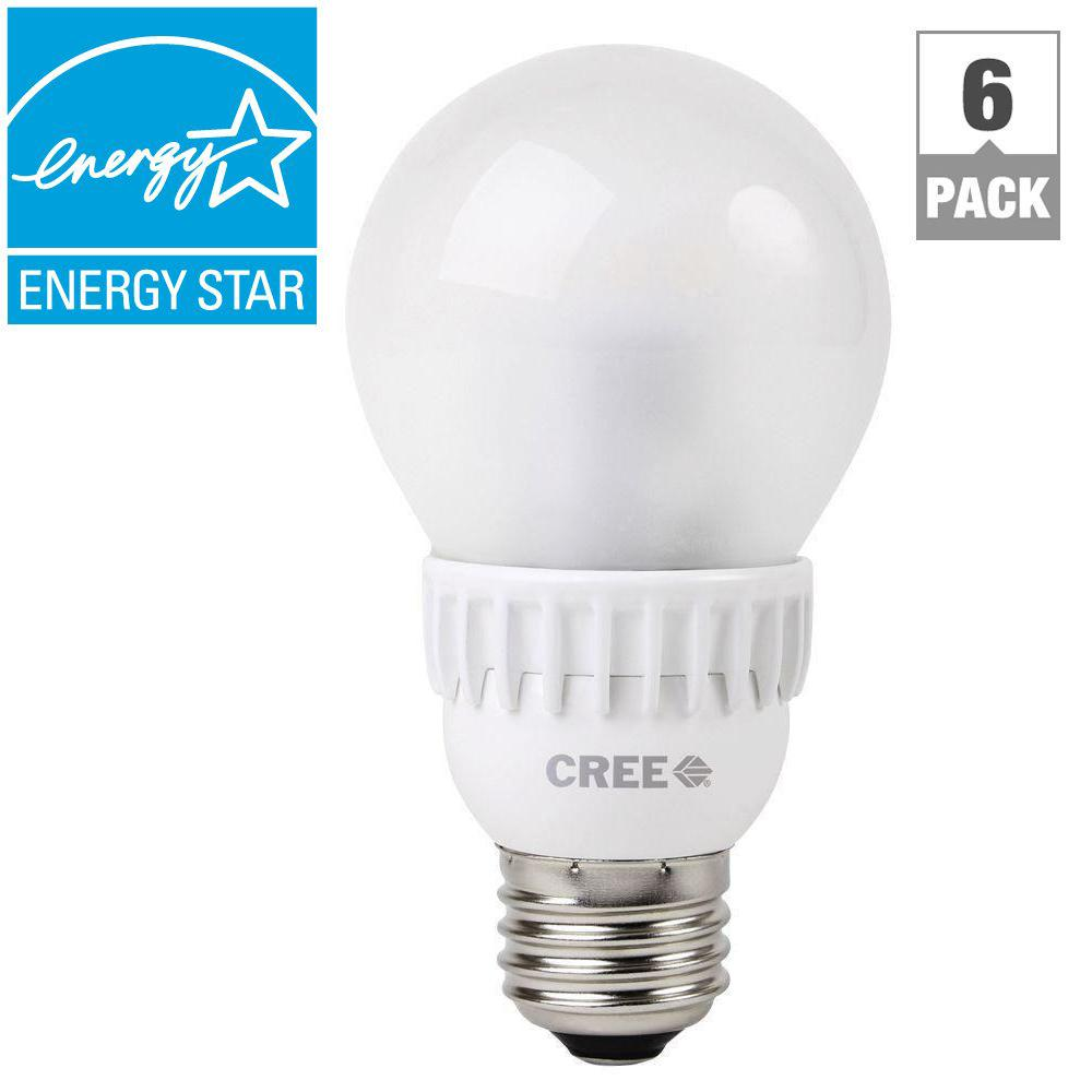Cree 40W Equivalent Soft White (2700K) A19 Dimmable LED Light Bulbs (6-Pack)