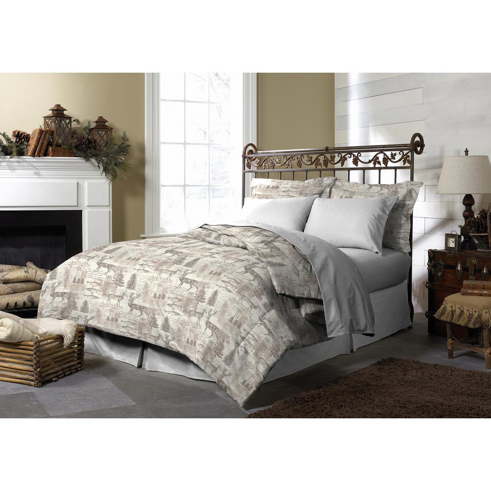 Porter Lodge Reversible Twin Comforter Set (3-Piece)