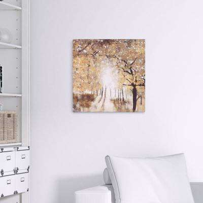 Golden Forest Landscape Canvas Wall Art