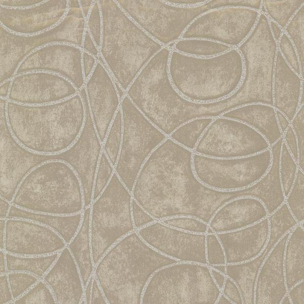 Brewster Novia Grey Geometric Swirl Wallpaper HZN43023