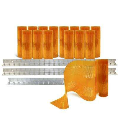 AirStream Insect Barrier 10 ft. x 12 ft. Amber PVC Strip Door Kit