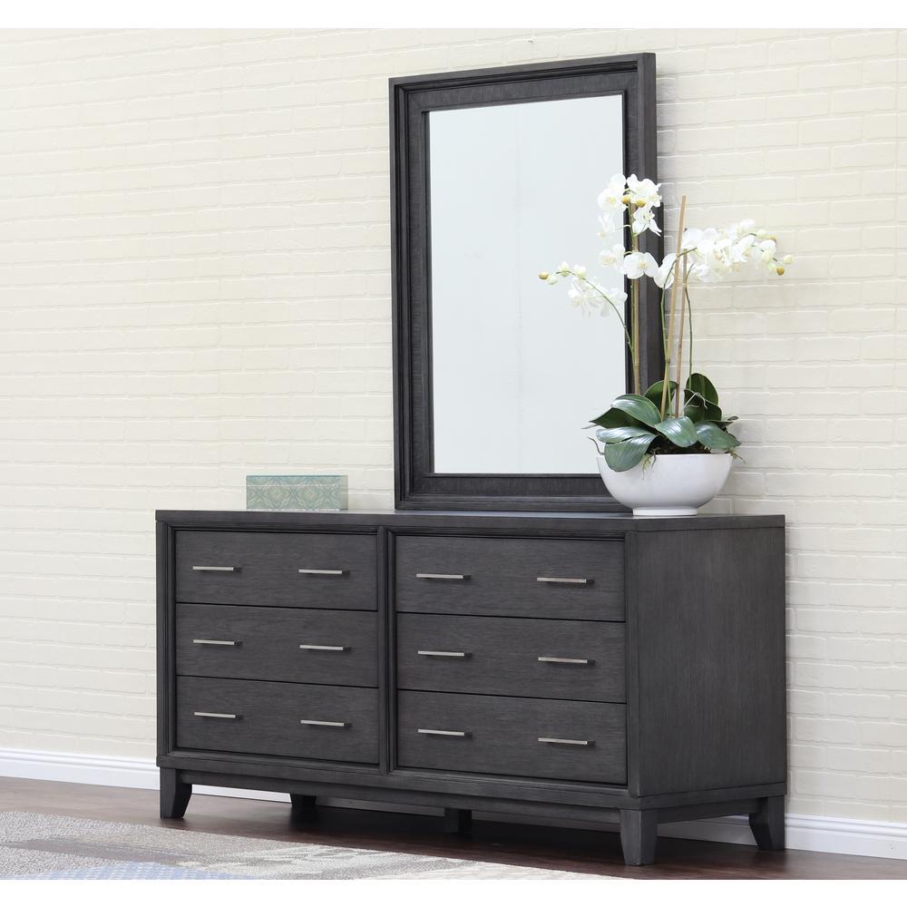 Chelsea 6-Drawer Gray Wash Dresser