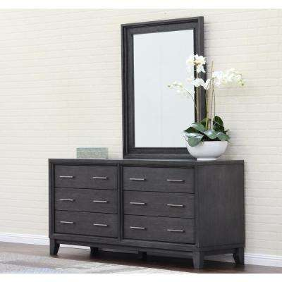 Chelsea 6-Drawer Gray Wash Dresser