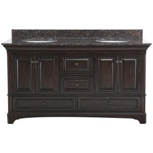 Home Decorators Collection Moorpark 61 inch W x 22 inch D Double Bath Vanity in Burnished... by Home Decorators Collection