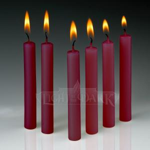 Light In The Dark 4 inch x 1/2 inch Thick Red Taper Candles (Set of 60) by Light In The Dark