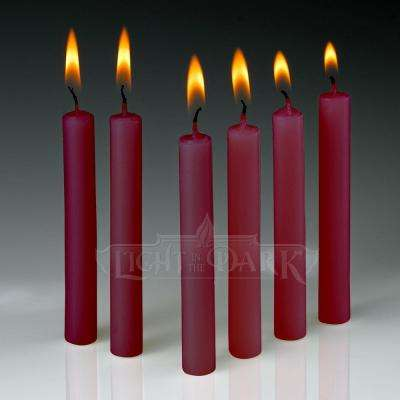 4 in. x 1/2 in. Thick Red Taper Candles (Set of 60)