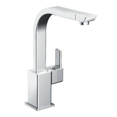 90-Degree High-Arc Single-Handle Standard Kitchen Faucet in Chrome