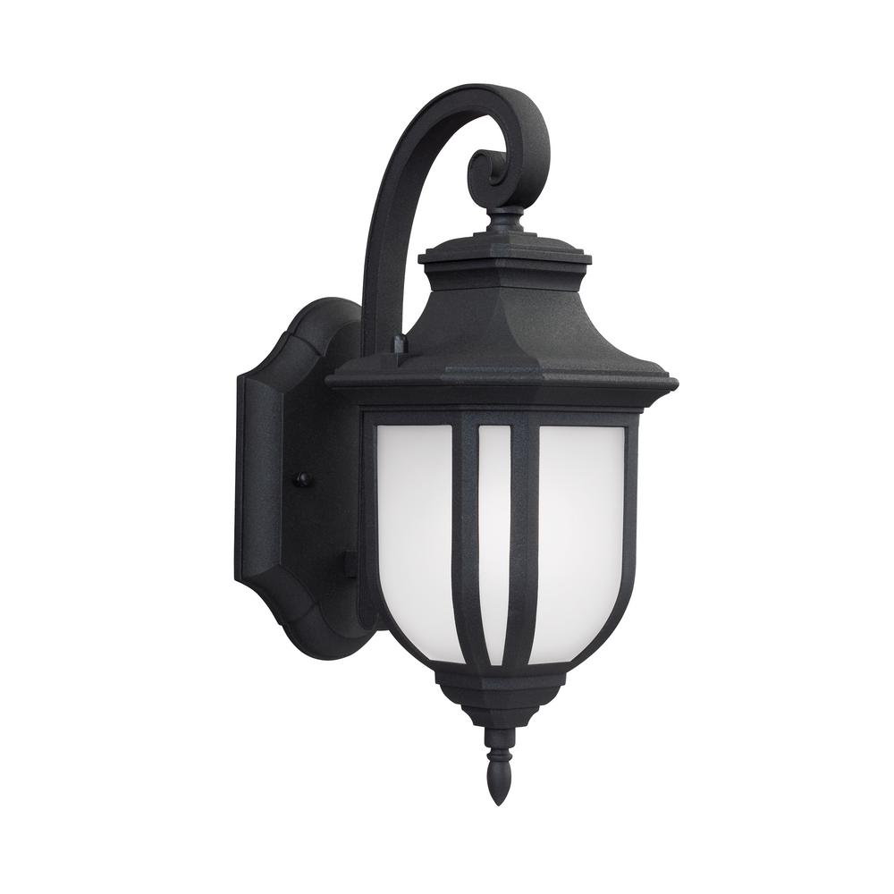 Childress 1-Light Small Black Outdoor Wall Mount Lantern