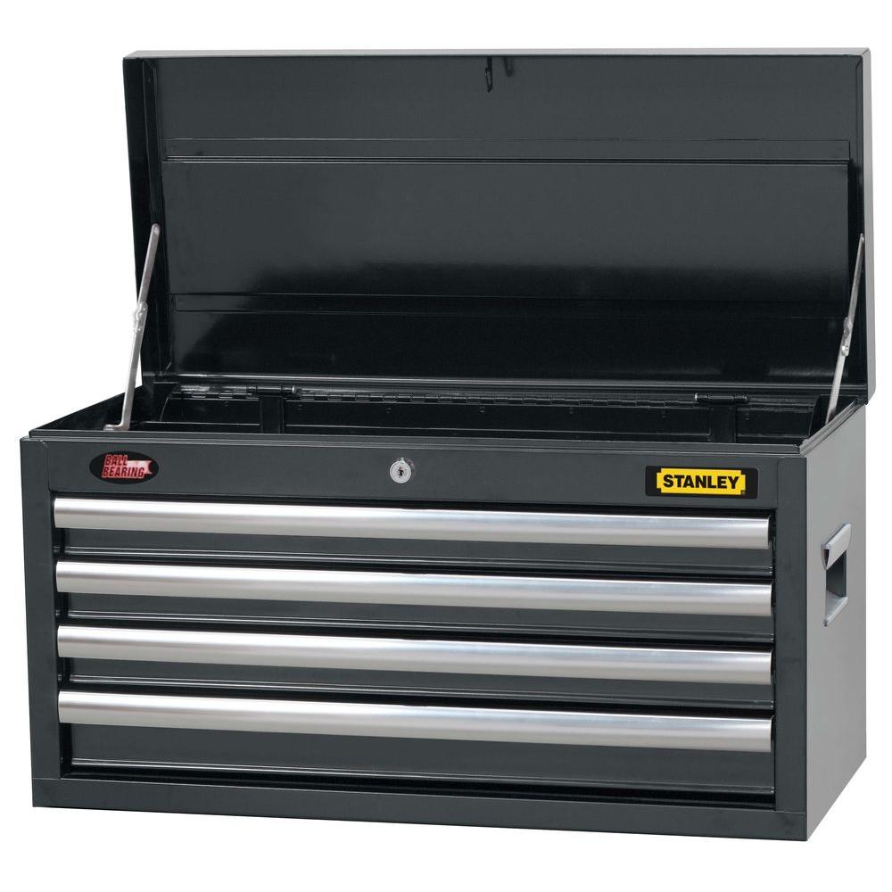 Stanley 26 in. 4-Drawer Tool Chest in Wide Grey