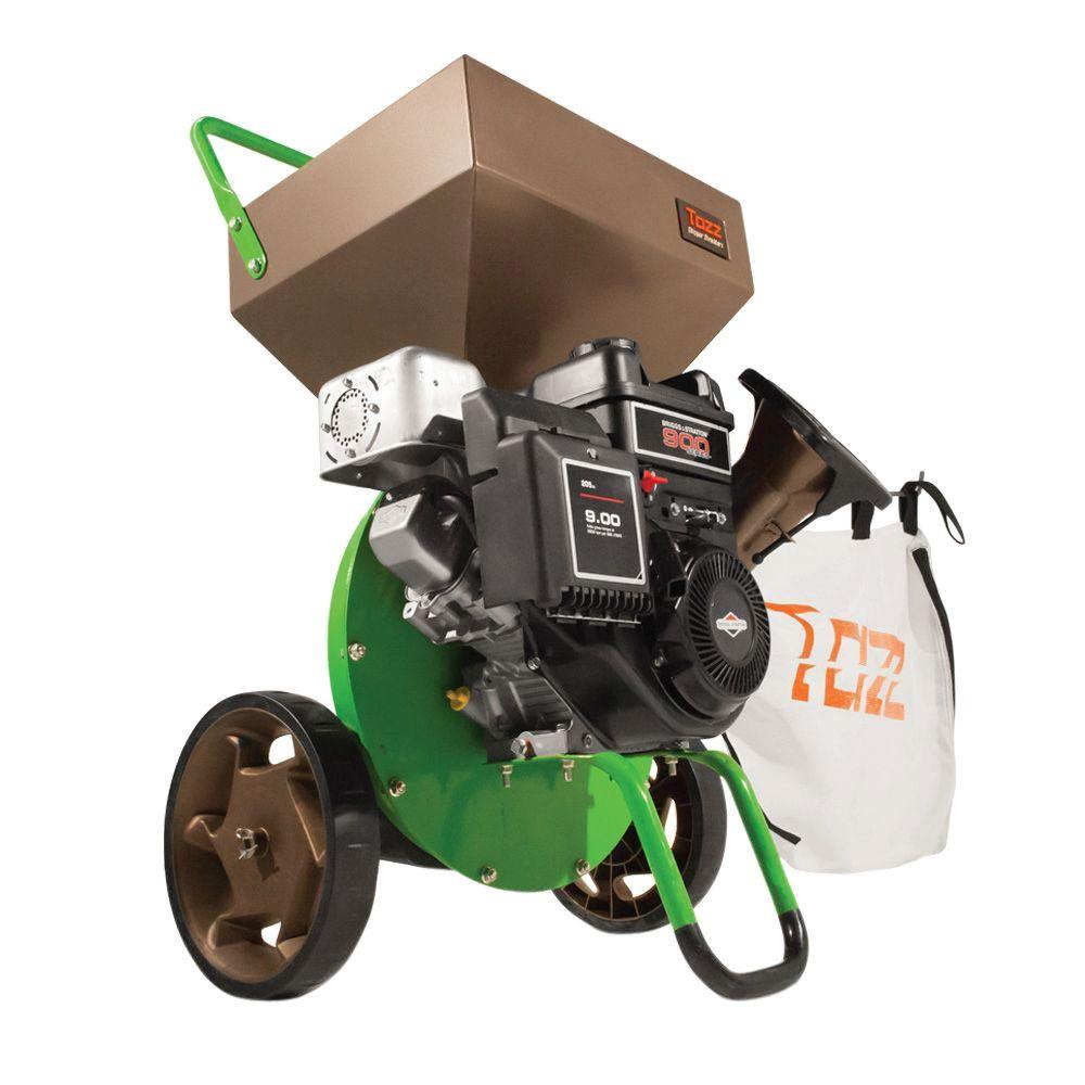 gas powered 205cc briggs stratton engine chipper shredder 22753 the home depot