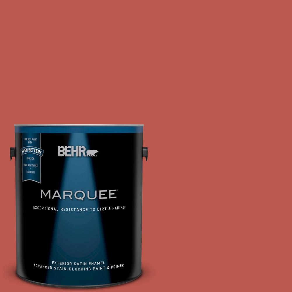 BEHR MARQUEE 1 gal. #M170-7 Tandoori Satin Enamel Exterior Paint and ...