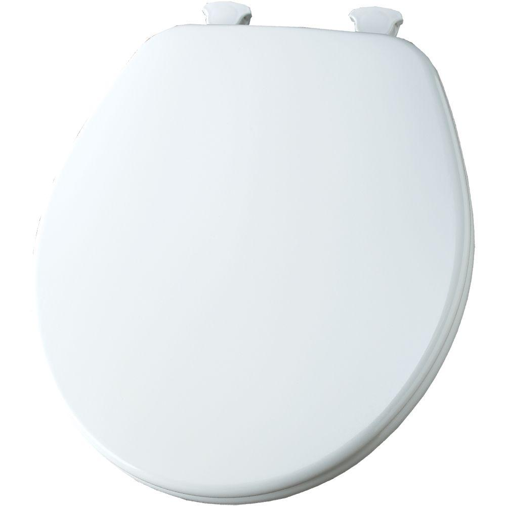 wooden white toilet seat. Church Round Closed Front Toilet Seat In White 540EC 000  The Home