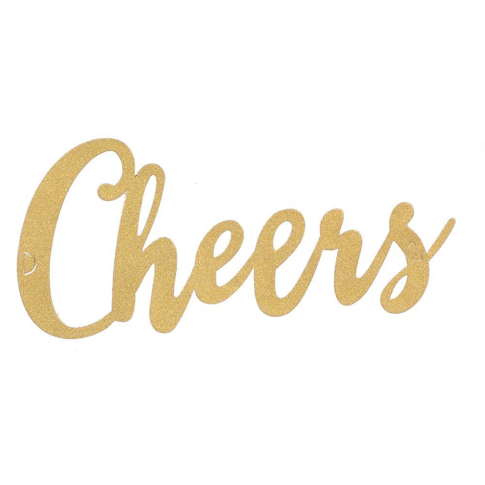 New Year's 4.75 in. Cheers Glitter Headband (4-Pack)