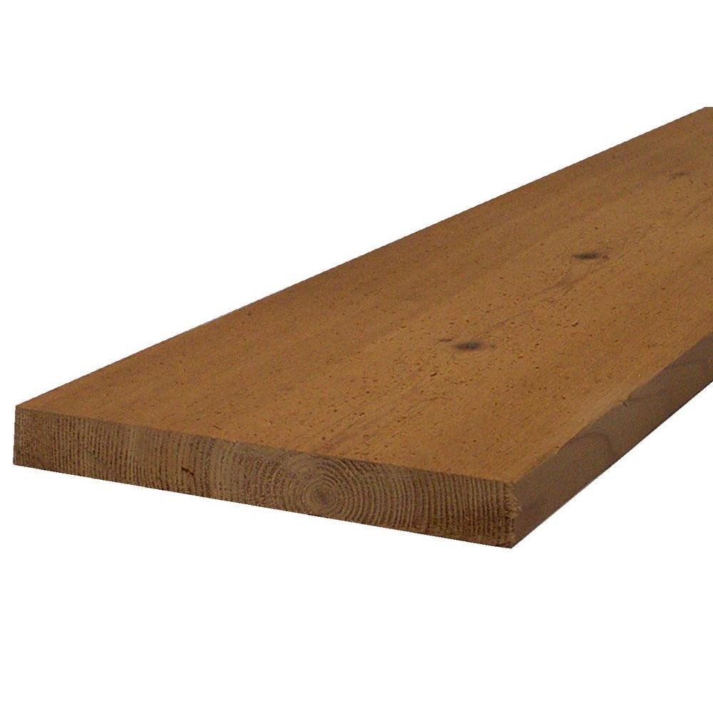 2 in. x 4 in. x 8 ft. S4S Western Red Cedar Decking Board