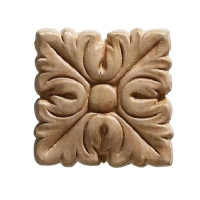 3440PK 7/32 in. x 2 in. x 2 in. Birch Square Acanthus Corner Onlay Ornament (4 pack) Moulding